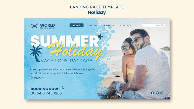 Urlaubs-landingpage