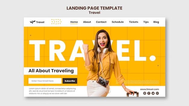 Urlaubs-landingpage Premium PSD