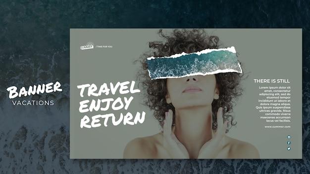 Urlaubskonzept banner vorlage