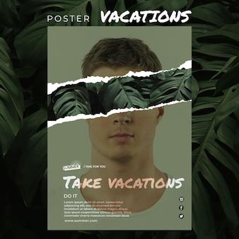 Urlaubskonzeptplakatschablone