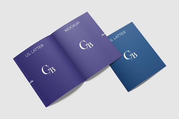 Us brief broschüre mockup