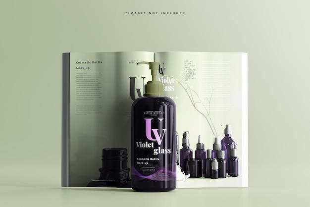 Uv-glaspumpflasche mit magazinmodell
