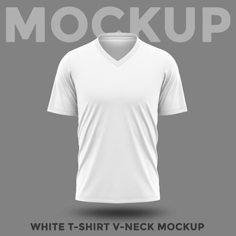 V-ausschnitt modell des weißen hemdes der vorderansicht