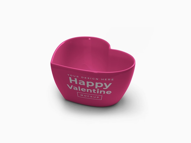 Valentine love heart container mockup design isoliert