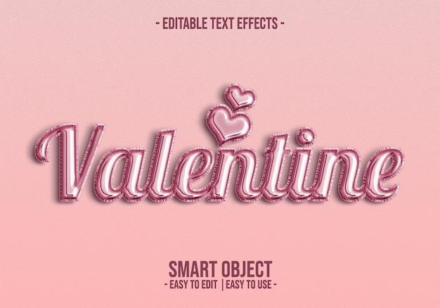 Valentine text style-effekt