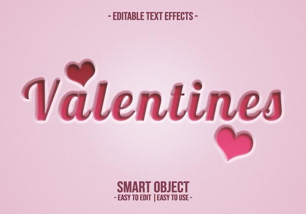 Valentine-text-style-effekt