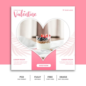 Valentinsgrußverkaufsposten für social media