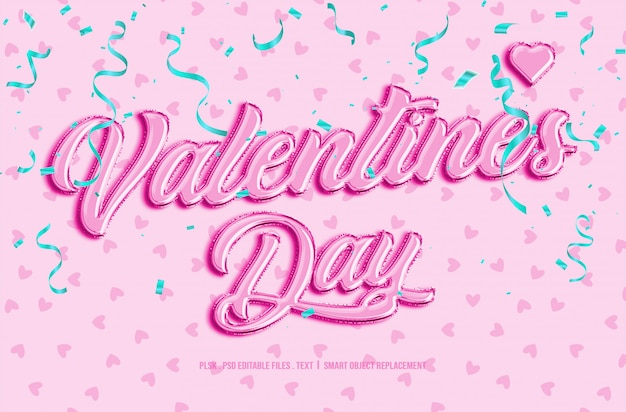 Valentinstag 3d textstil modell