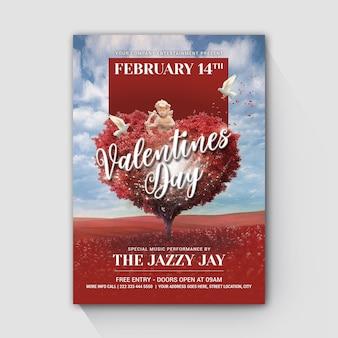 Valentinstag-baum-liebes-engel