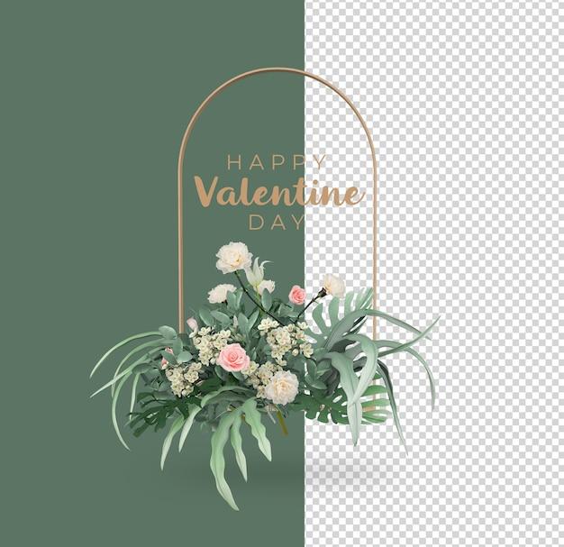 Valentinstag blumen dekoration modell design