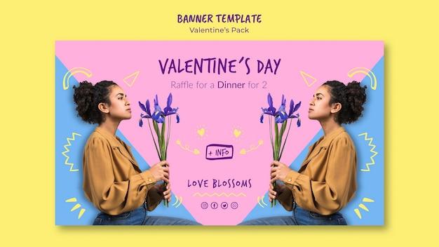 Valentinstag gutschein banner vorlage