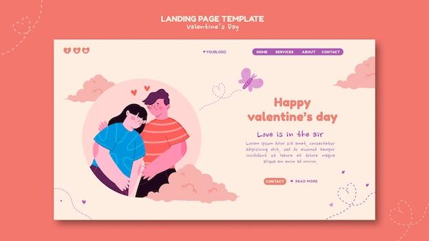 Valentinstag illustrierte landingpage