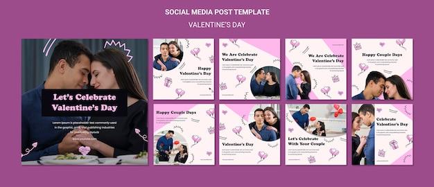 Valentinstag instagram beiträge vorlage