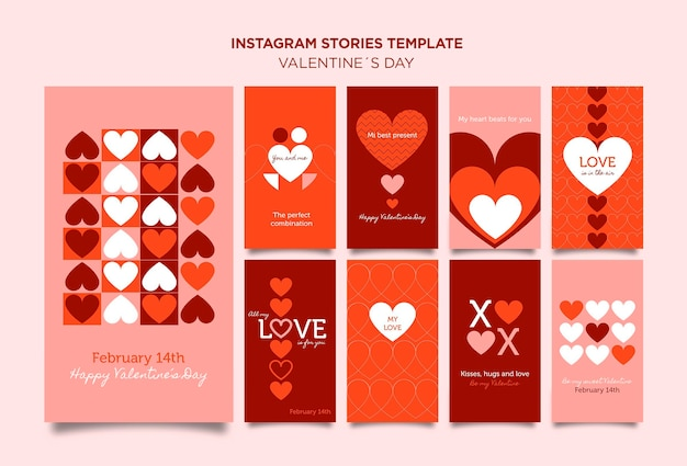 Valentinstag instagram geschichten vorlage