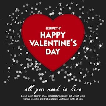 Valentinstag instagram post template und banner vorlage