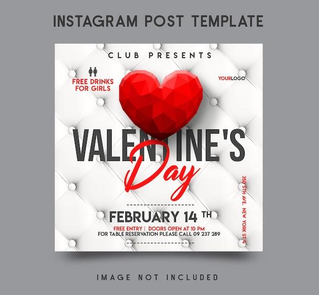 Valentinstag instagram post vorlage design