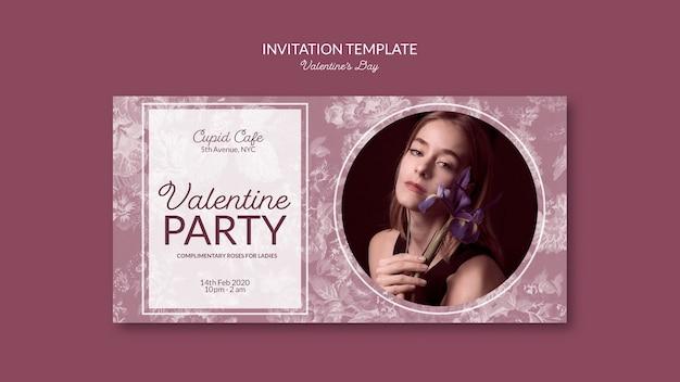 Valentinstag inviation vorlage