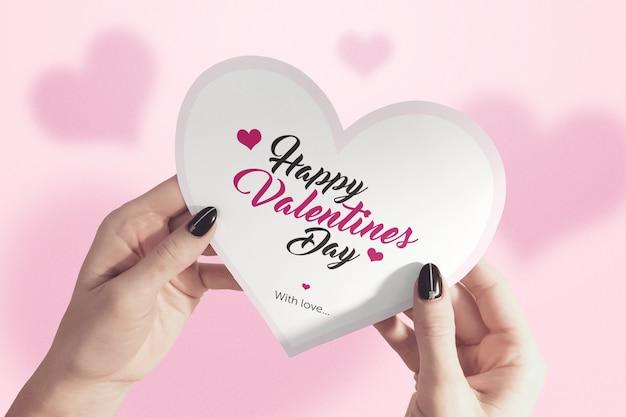 Valentinstag-kartenmodell