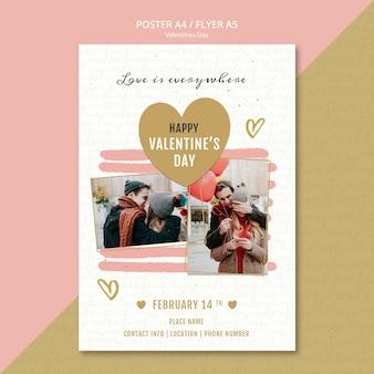 Valentinstag-konzept-flyer