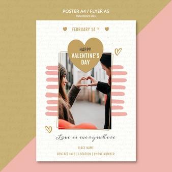 Valentinstag-konzeptplakat