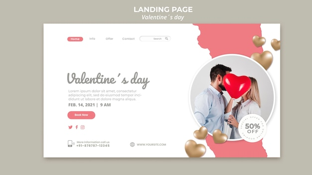 Valentinstag landing page