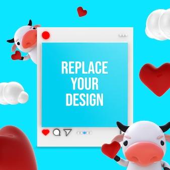Valentinstag mockup design