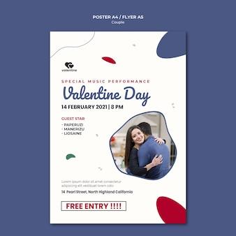 Valentinstag paar poster vorlage