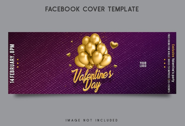 Valentinstag party facebook cover vorlage design
