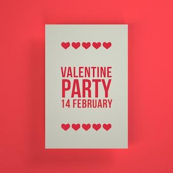 Valentinstag-partyeinladung