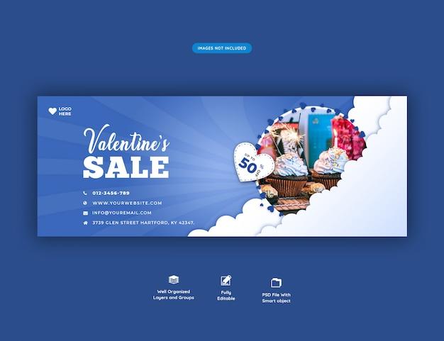 Valentinstag verkauf facebook cover banner
