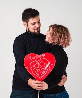 Valentinstagpaar-konzeptmodell