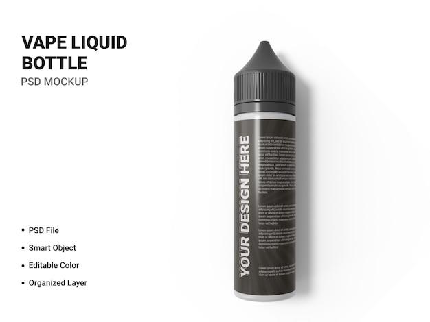 Vape flüssige flasche modellentwurf isoliert