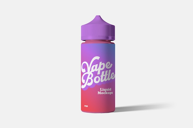Vape liquid bottle mockup