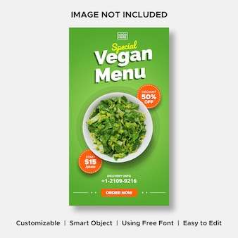 Vegan menü spezielle lieferaktion