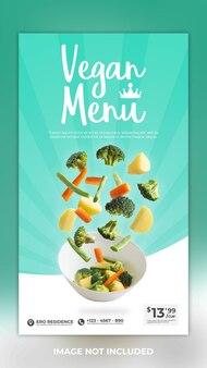 Veganes menü essen social media story post