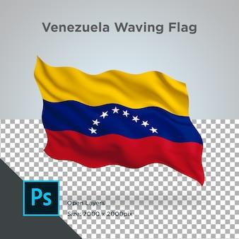 Venezuela flag wave design transparent