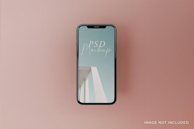 Veränderbares design von hochwertigen mobilbildschirmmodellen in draufsicht