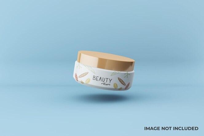 Veränderbares schwebendes kosmetisches gesichtscremeglas-modelldesign
