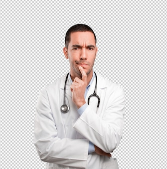 Verdächtiges junges doktordenken