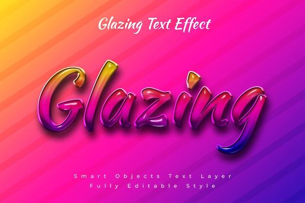 Verglasungstext-effekt