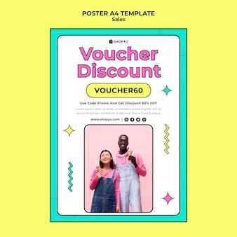 Verkäufe mit rabatt a4 plakatvorlage