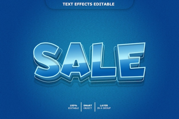 Verkauf 3d textstil-effekt