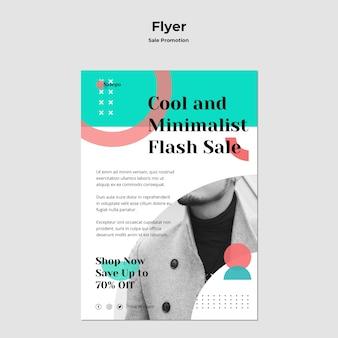 Verkauf promotion flyer vorlage
