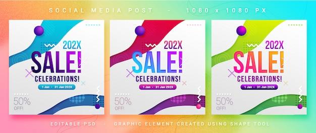 Verkauf / rabatt social media post psd vorlage