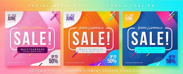 Verkauf social media post banner