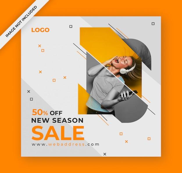 Verkauf social media post oder banner design