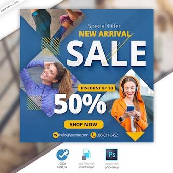 Verkauf social web banner