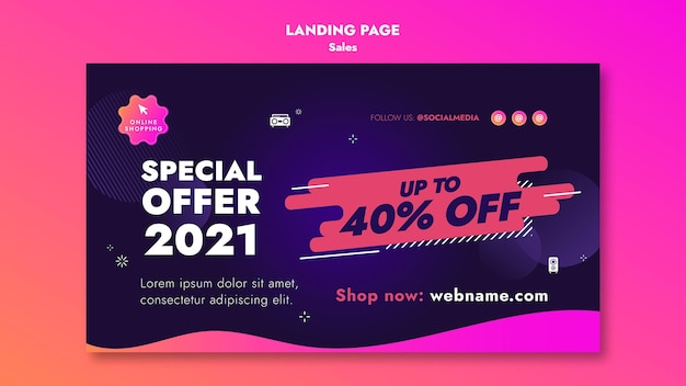 Verkaufsangebote landingpage