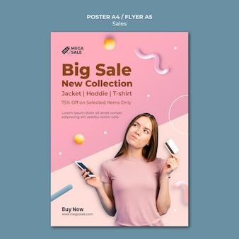 Verkaufsplakat und flyer designvorlage