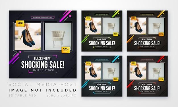 Verkaufsposten für social media-vorlage
